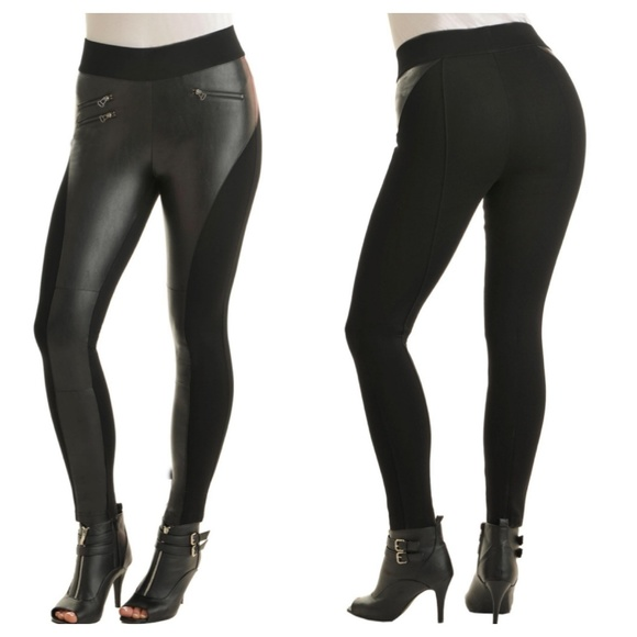 a7b4af0a079c Peter Nygard Pants | Nygard Slims Moto Bianca Faux Leather Leggings ...